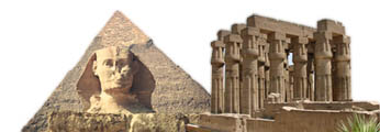 Pramids, Sphinx and luxor temple Egypt