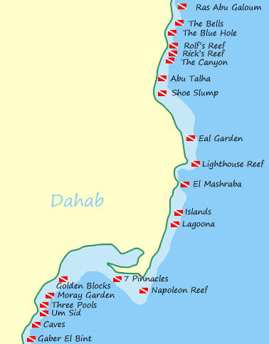 Dahab South Sinai Resort Egypt Travel Information - Map of egypt dahab