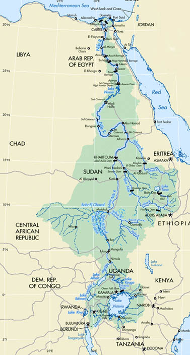 The gallery for Ancient Nile River Map